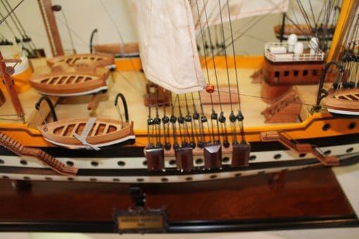Amerigo Vespucci model ship - detail