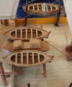 Amerigo Vespucci model ship - detail