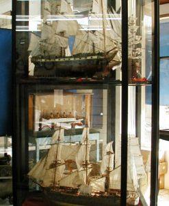 vetrina per modello di veliero