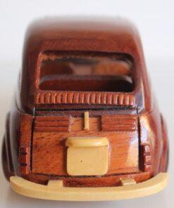Modellino Fiat 500 in legno